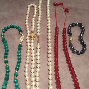 Lot of 4 Necklaces & 1 Bracelet.